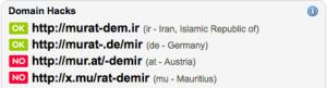 DomainTyper pour le site www.murat-demir.org