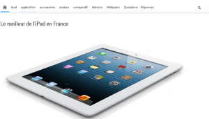 iPad : Sites thématique tablette tactile